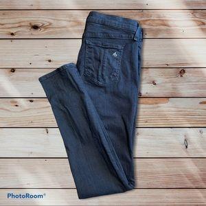 rag & bone mid-rise skinny coal jeans